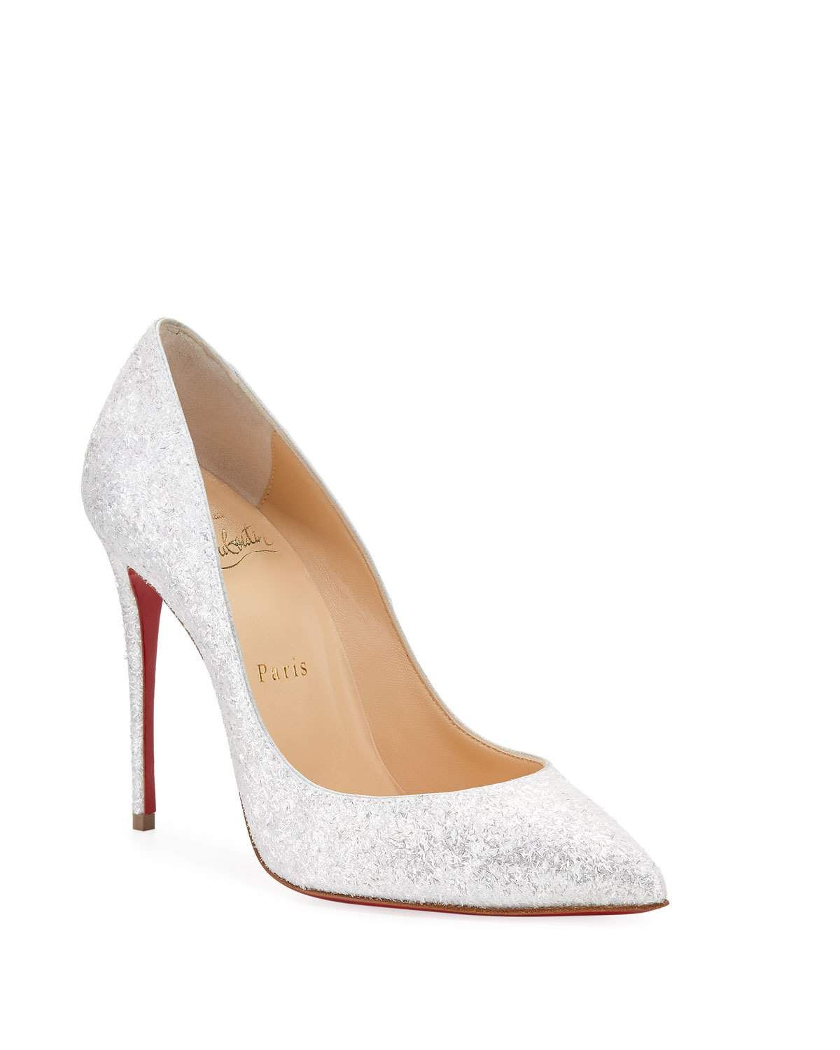 uk availability 0c7b5 ba181 Christian Louboutin Pigalle Follies 100mm Glitter Red Sole ...
