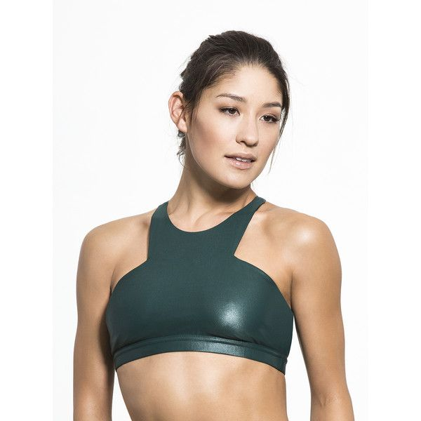 ffb4a13c3c8a9 Carbon38 Ion Sports Bra ( 79) ❤ liked on Polyvore featuring activewear