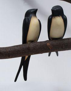 Schwalbenpaar | heimische Ton-Vögel