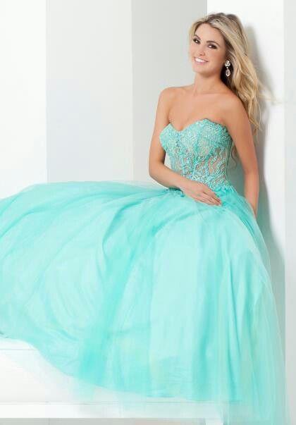 Aqua Blue Formal Prom Dress