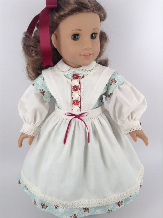 American Girl 18-inch Doll Clothes - Civil War Dress & Apron in Aqua ...