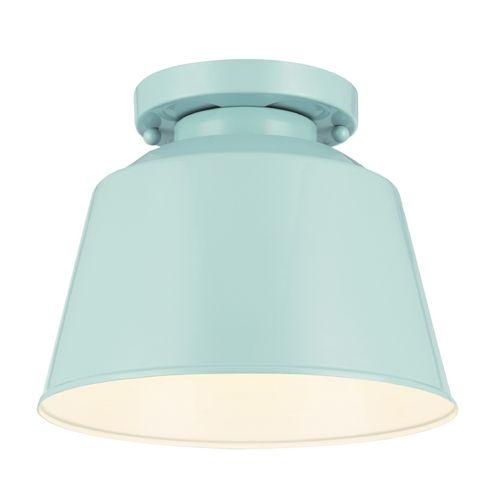 Feiss Lighting Feiss Lighting Freemont Hi Gloss Blue Close To Ceiling Light | OL15013SHBL | Destination Lighting