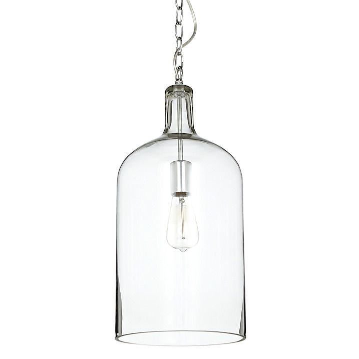 John Lewis Croft Collection William Bottle Glass Pendant Glass Pendants Glass Bottle Lights