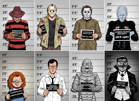 Usual Suspects. Who is the most dangerous? Art by Brian Maze.