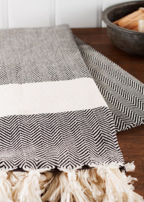 Soft Thick And Quick Drying Our Herringbone Towel Is A Great