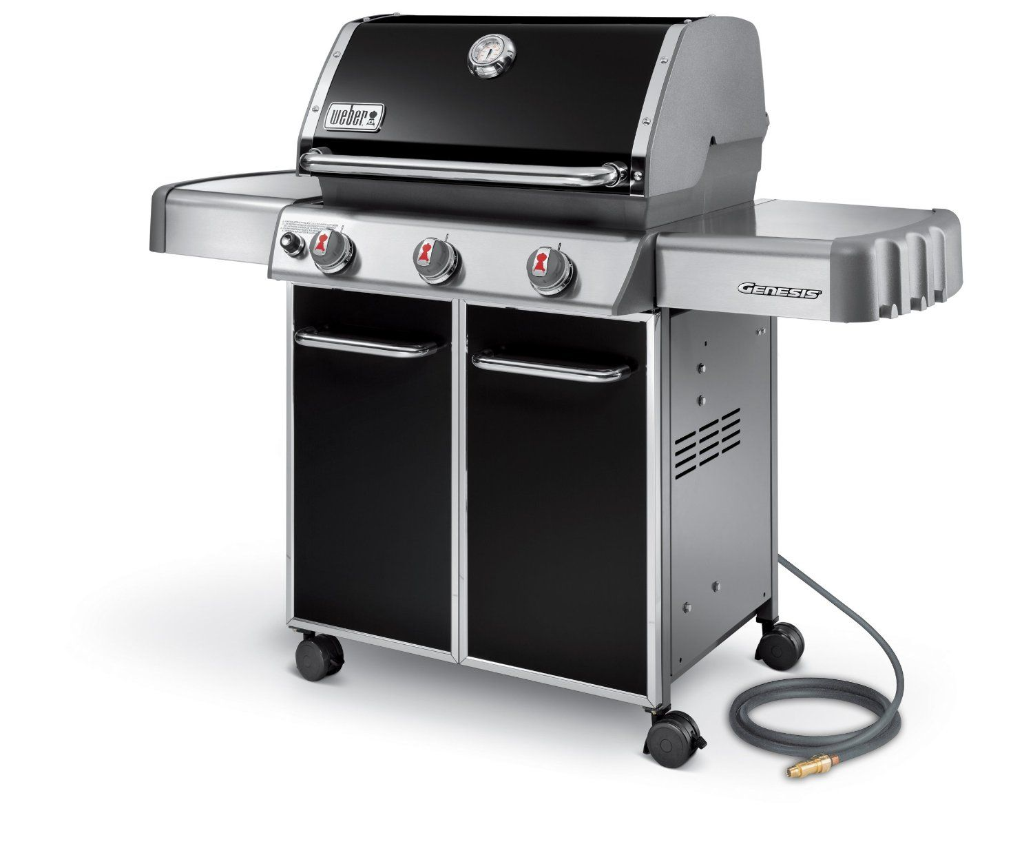 Amazon Com Weber Genesis 6611001 E 310 637 Square Inch 38 000 Btu Natural Gas Grill Black Patio Lawn Garden Gas Grill Reviews Gas Grill Best Gas Grills