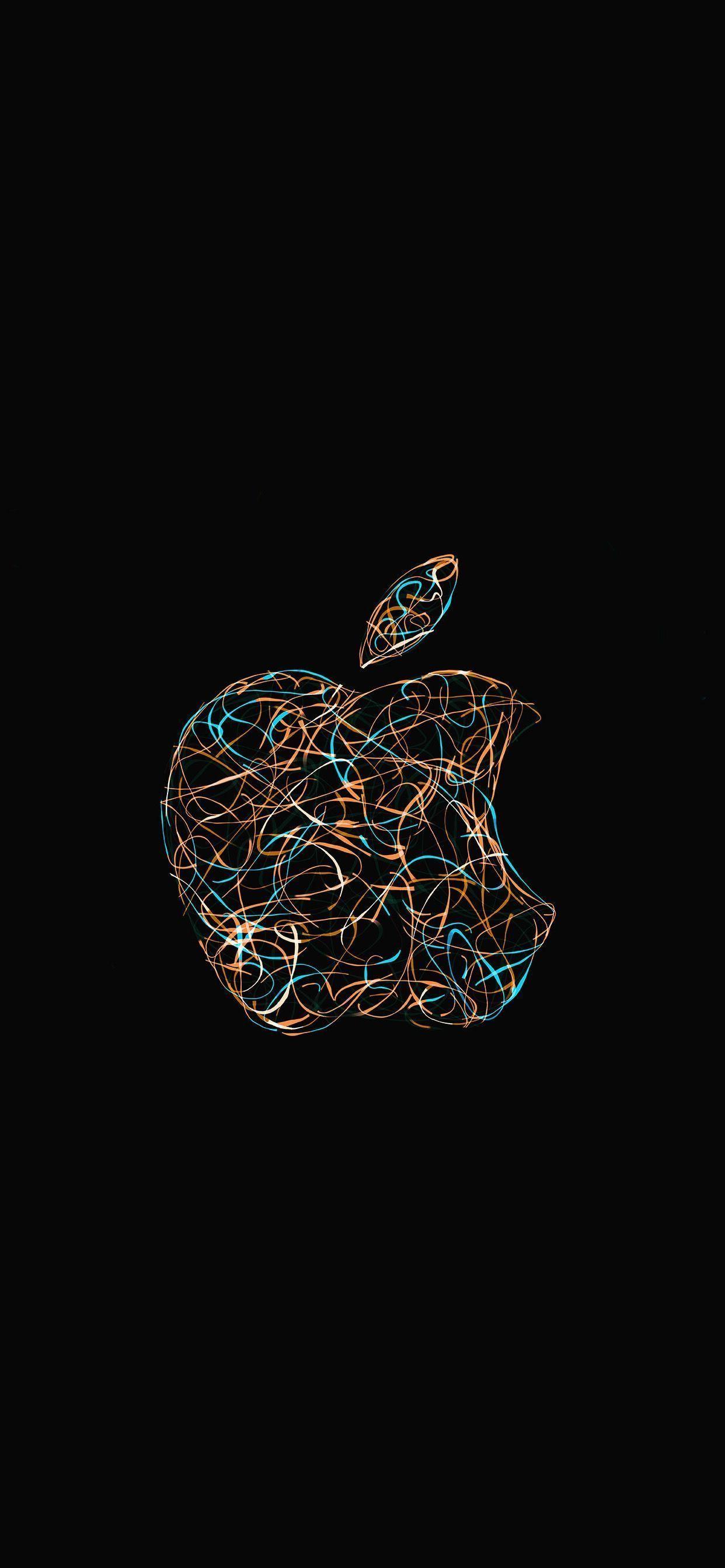 Green Ios 13 Dark Mode Wallpaper Iphone X Wallpapers Iphonexwallpaperfullhd Apple Logo Wallpaper Iphone Apple Logo Wallpaper Walpaper Iphone