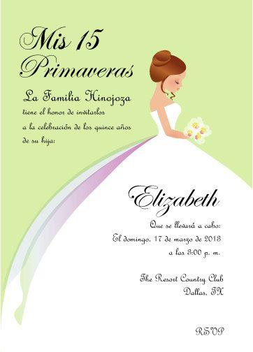 Princess Quinceanera Invitation Bilingual On Etsy 1000