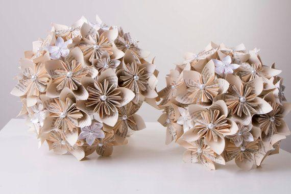 Mazzo Di Fiori Origami.Bouquet Di Fiori Di Carta Matrimonio Fiori Di Carta Mazzo Di