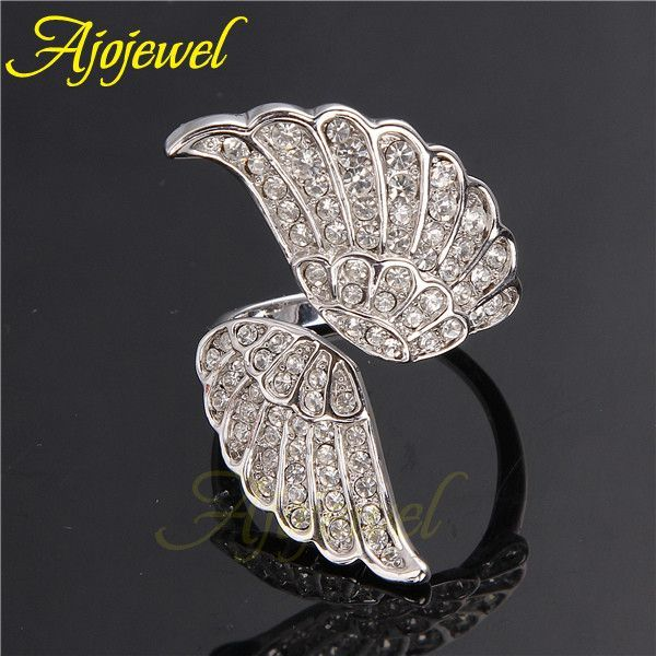 Resizable Classic Design Open Wing Rings For Women 2014 New Arrival
