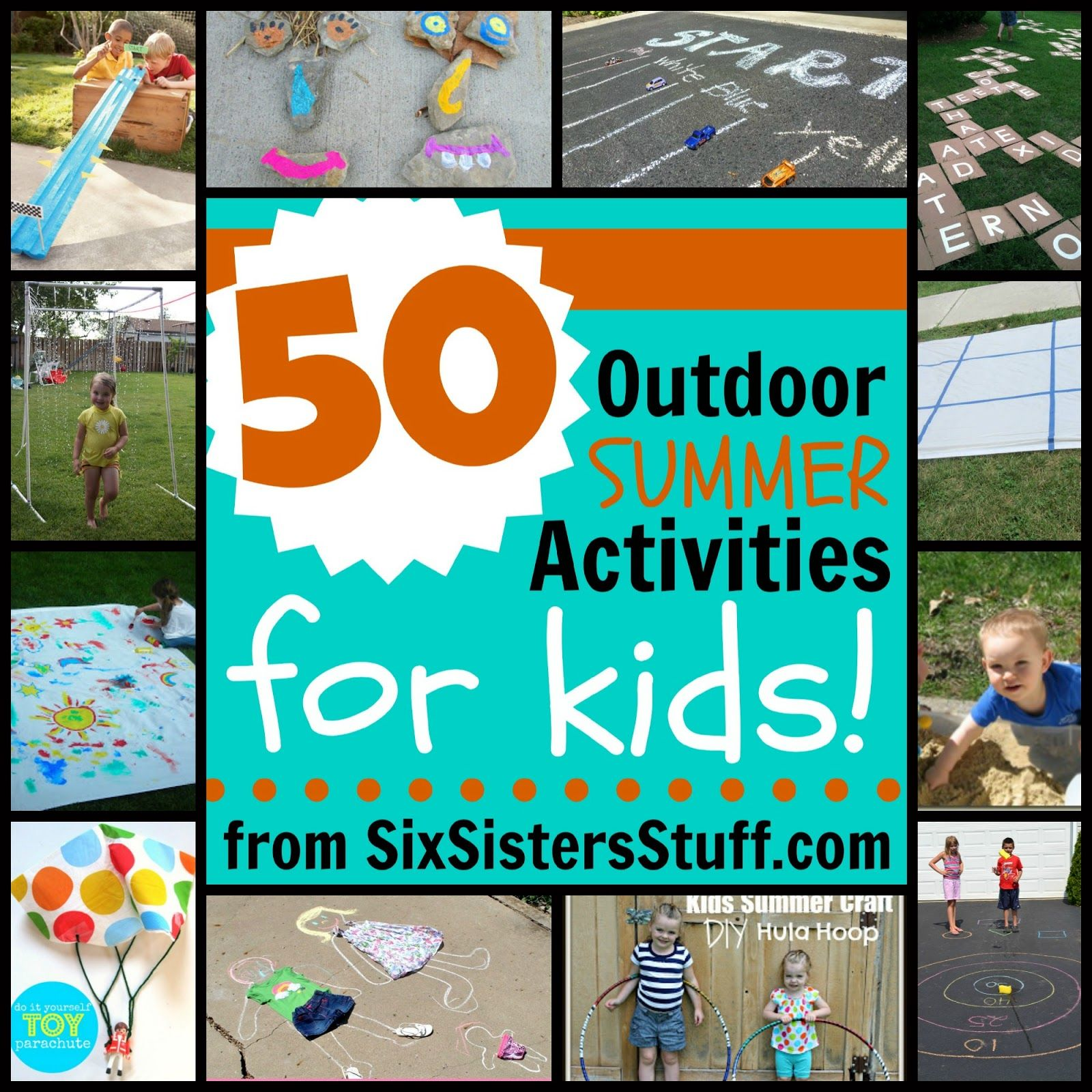 50 Outdoor Summer Activities for Kids from SixSistersStuff No