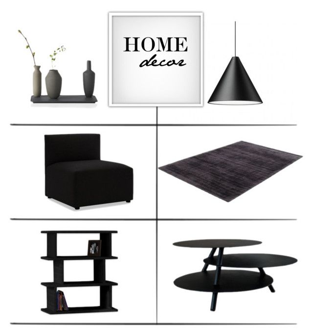 """""""Black Home Decor"""" by lovethesign-shop ❤ liked on Polyvore featuring interior, interiors, interior design, home, home decor, interior decorating, Muuto, livingroom, black and homedecor"""