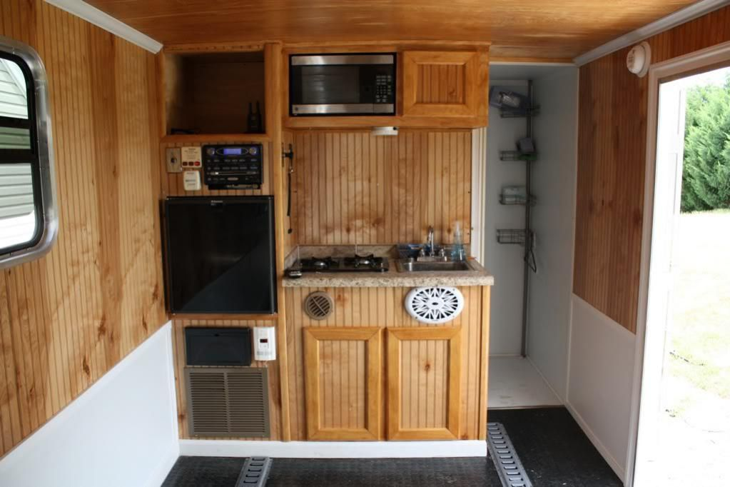 Cargo trailer camper conversion ideas name c293aac3 for Install bathroom in enclosed trailer
