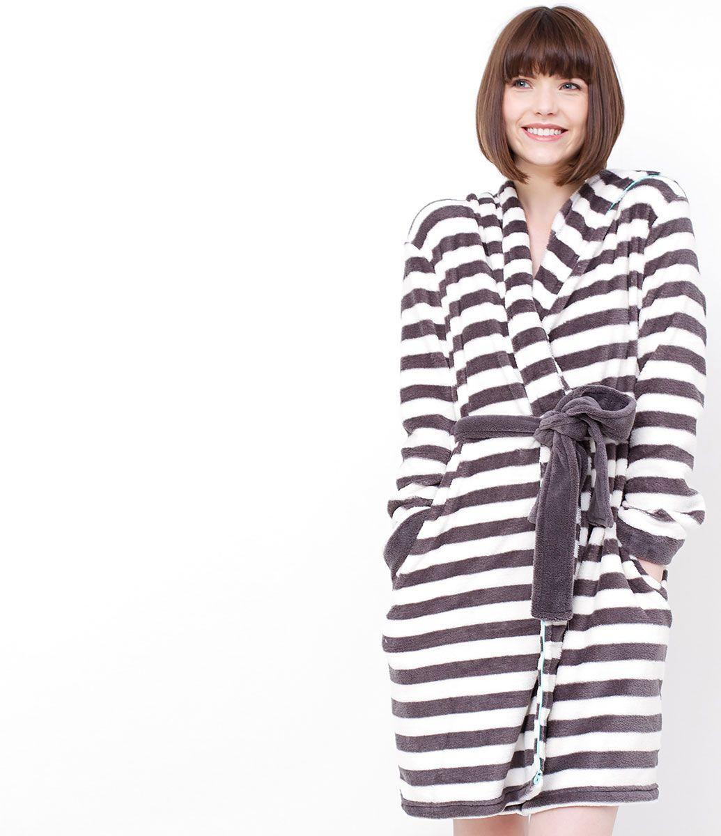 cb645e3c44934a Robe feminino Manga longa Com capuz Estampa de listras Marca: Lov ...