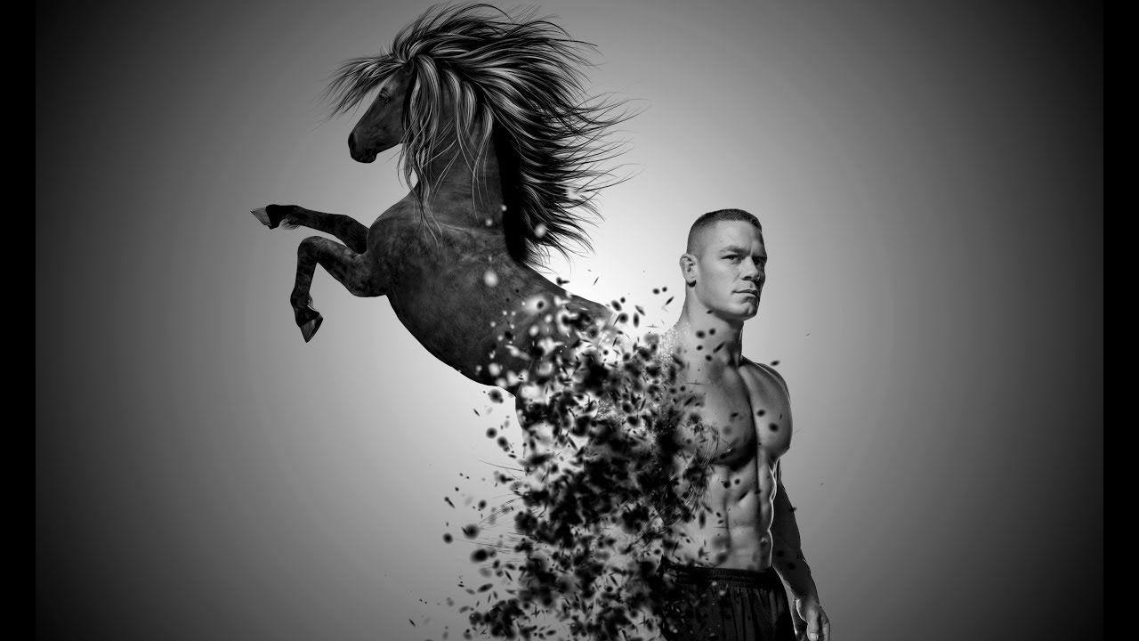 Photoshop CC Disintegration Effect Black Horse   #PhotoshopTutorials