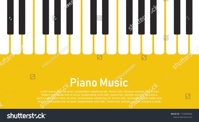 Grunge black and white piano keyboard piano on a yellow