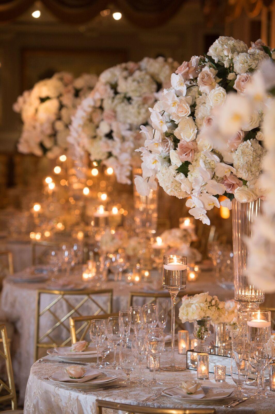 Glamorous Ballroom New York Wedding At The Pierre Hotel Modwedding Weddings Decorations Elegant Romantic Wedding Reception Decorations Elegant Wedding Decor Elegant