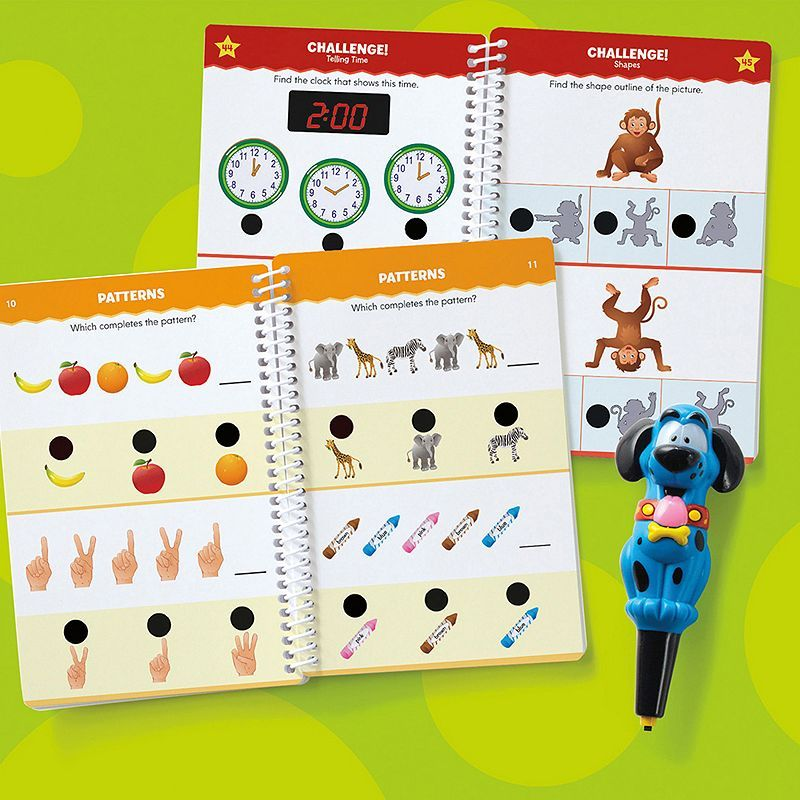 Educational Insights Hot Dots Jr. Let's Master Kindergarten Math Book Set, Multicolor