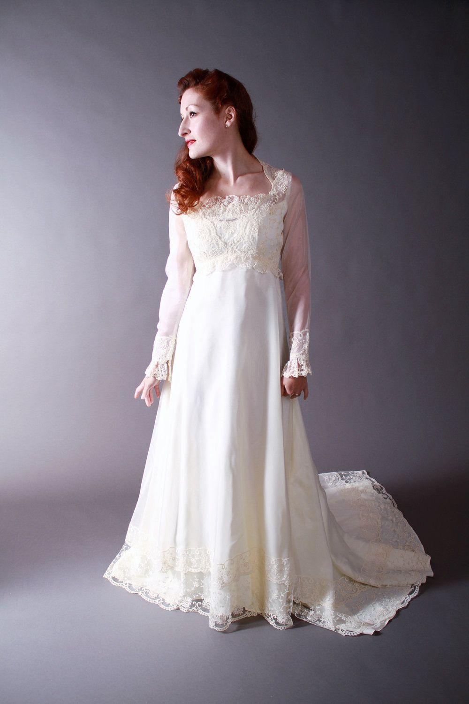 Vintage 1970s Juliette Renaissance Style Wedding Dress