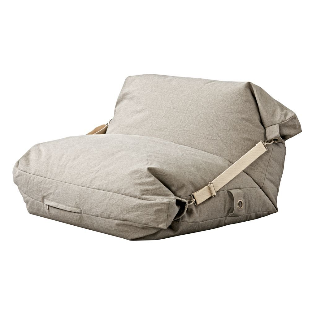 Adjustable Light Grey Bean Bag Chair The Land of Nod