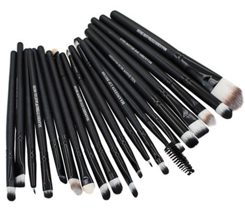 20 Pcs Pro Makeup Set Powder Foundation Eyeshadow Eyeliner Lip Cosmetic Brushes - Offer (JUST PAY SHIPPING & HANDLING)