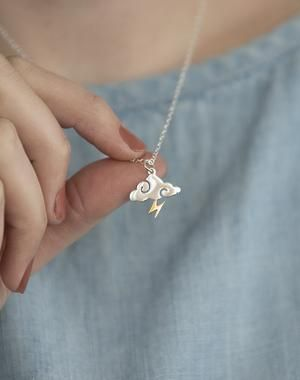 Photo of Like Lightning Sterling Silver Cloud Necklace