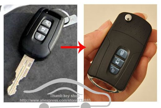 3 Buttons Blank Modified Flip Folding Remote Key Shell For