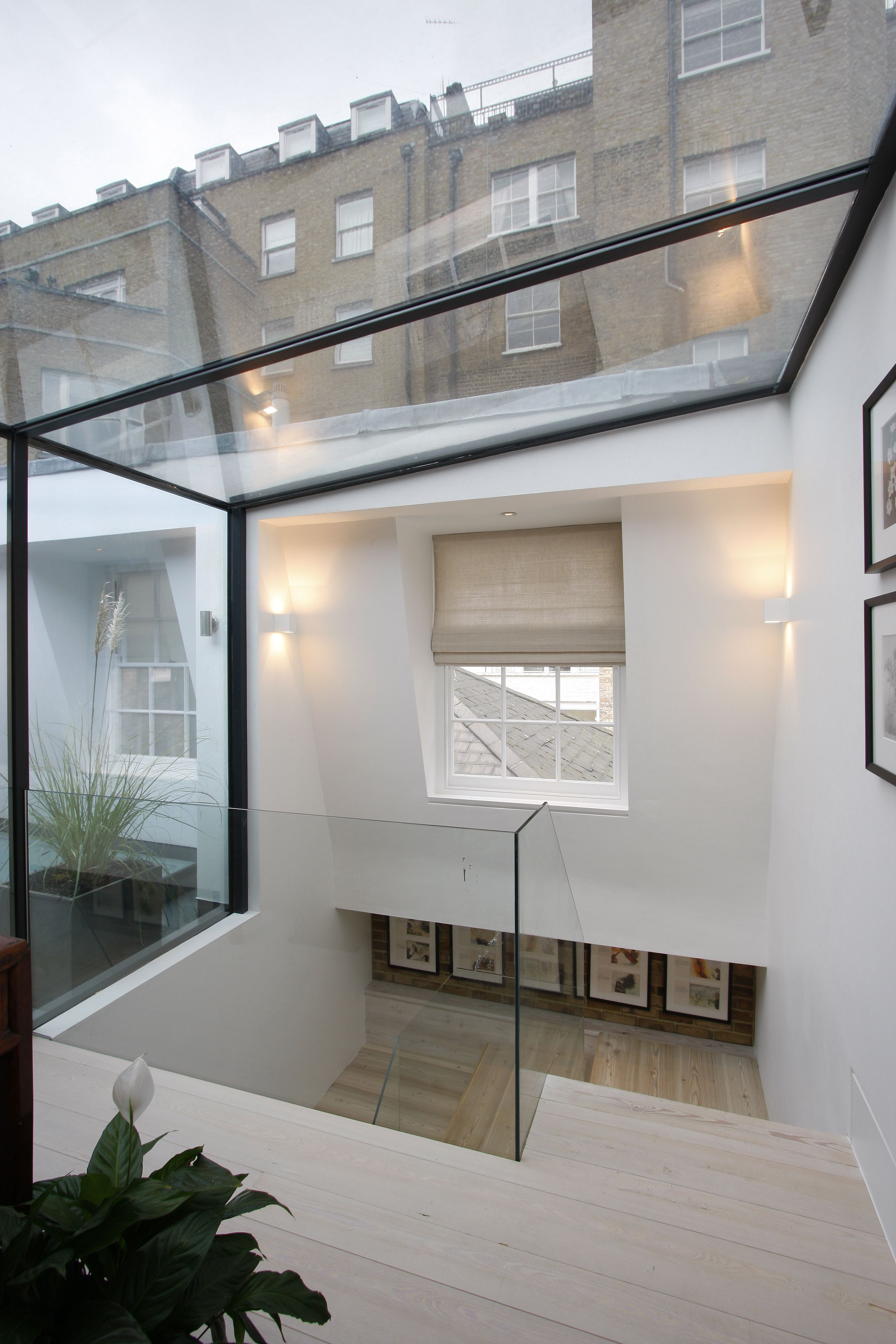 Pin By Eva Rosado Interior Designer On Project Bryanston Mews Glass Roof Roof Architecture Roof Design