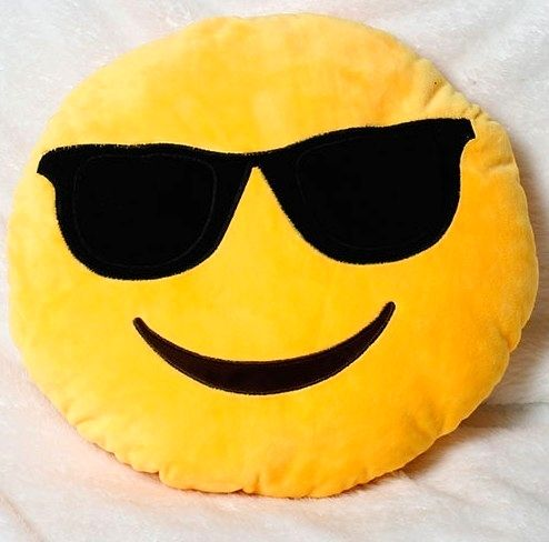 Sunglasses emoji pillow