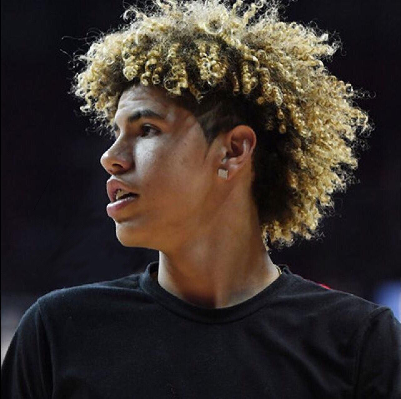 Lamelo Lamelo Ball Basketball Hairstyles Curly Hair Men