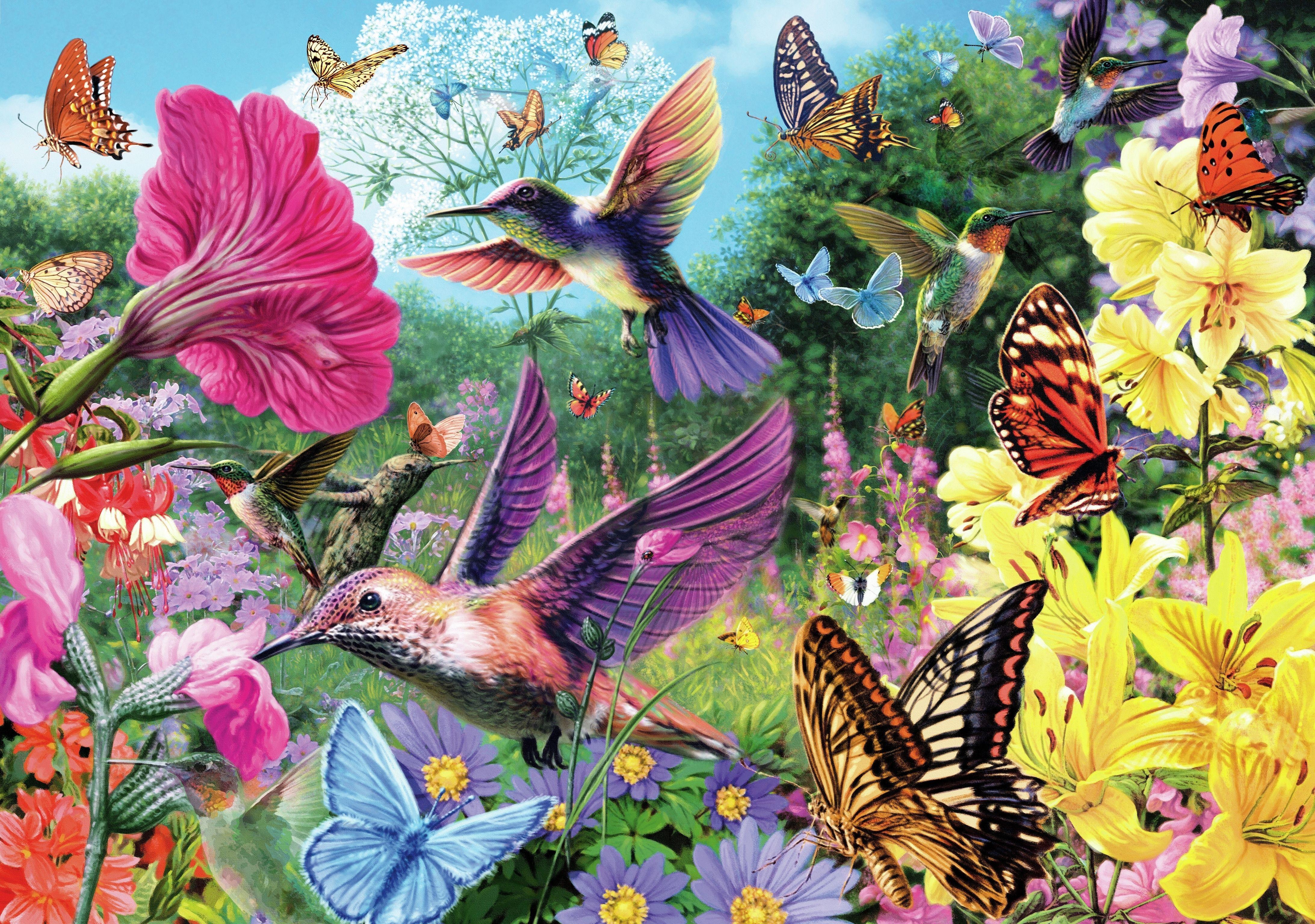 """Hummingbird Garden"" If you enjoy a bright, cheerful"