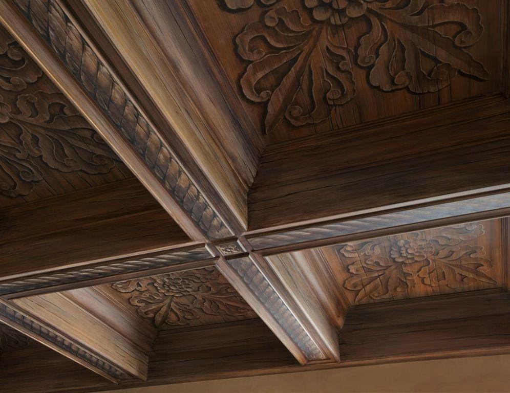 Old World Gothic And Victorian Interior Design Victorian Gothic Style Interior Victorian Interior Design Victorian Interior Painted Ceiling Beams