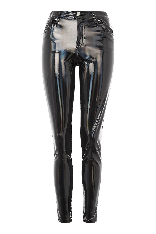 34c1206c97d44 MOTO Holographic Vinyl Jamie Jeans - Skinny Jeans - Jeans - Topshop