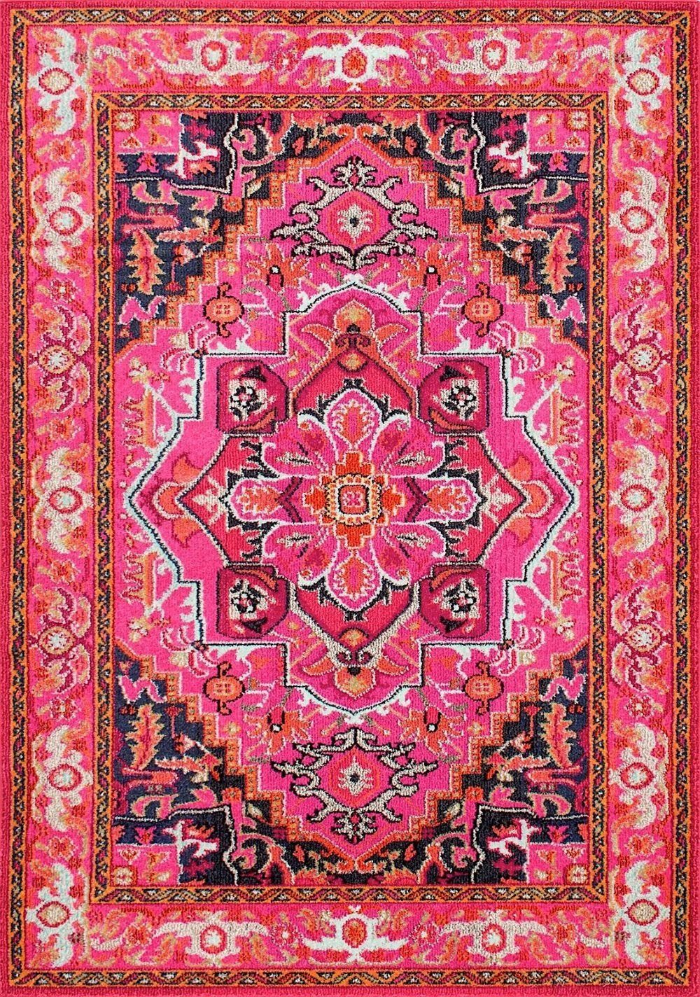 """Amazon.com: NuLoom Traditional Rectangle Area Rug 6'7""""x9' in Violet Pink Color From Vintage Mackenzie Collection: Kitchen & Dining"""
