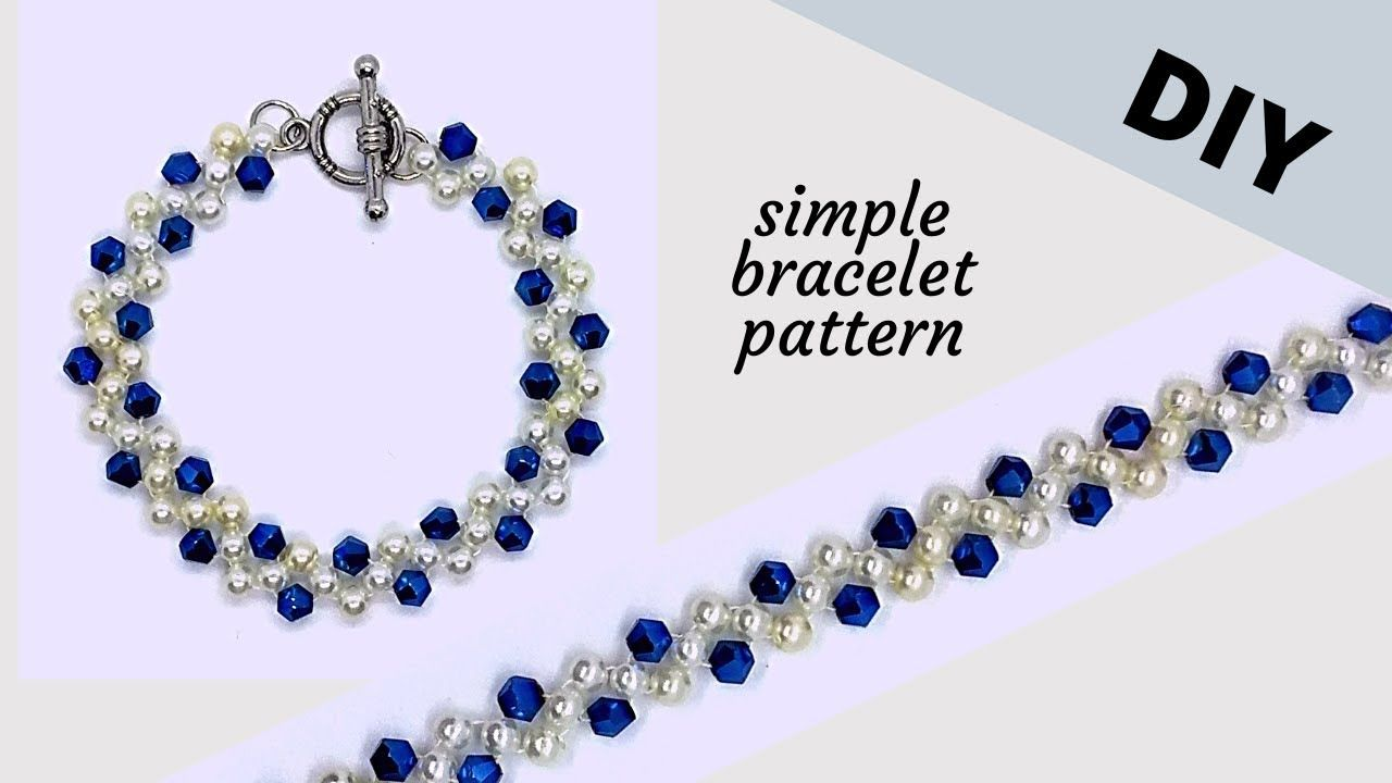 10 mins diy bracelet simple beading pattern for beginners