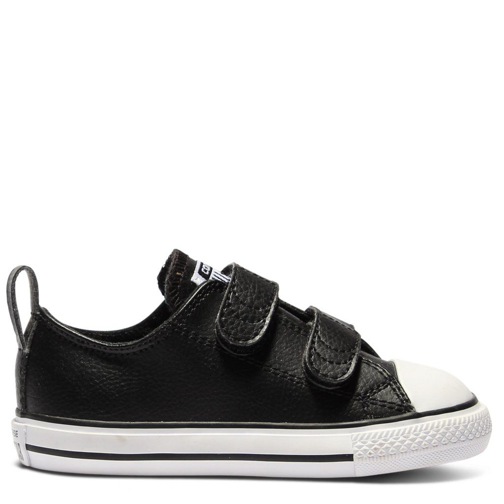 Converse Kids Chuck Taylor All Star Leather Toddler 2V Black  897633921