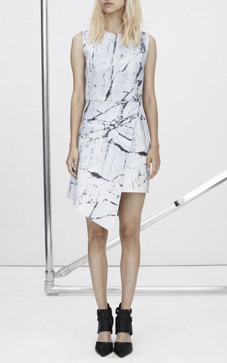 New York Fashion Week, preorder Zoë Jordan Spring 2015 Runway Trunkshow Look 18 - Leather Saxony Dress