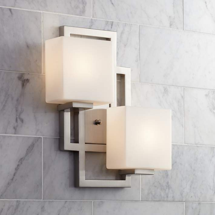 Lighting On The Square 15 1 2 H Brushed Steel Wall Sconce Style