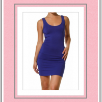 Private Label - Gone Wild With Open Ladder Back Mini Dress In Royal Blue  $35.00