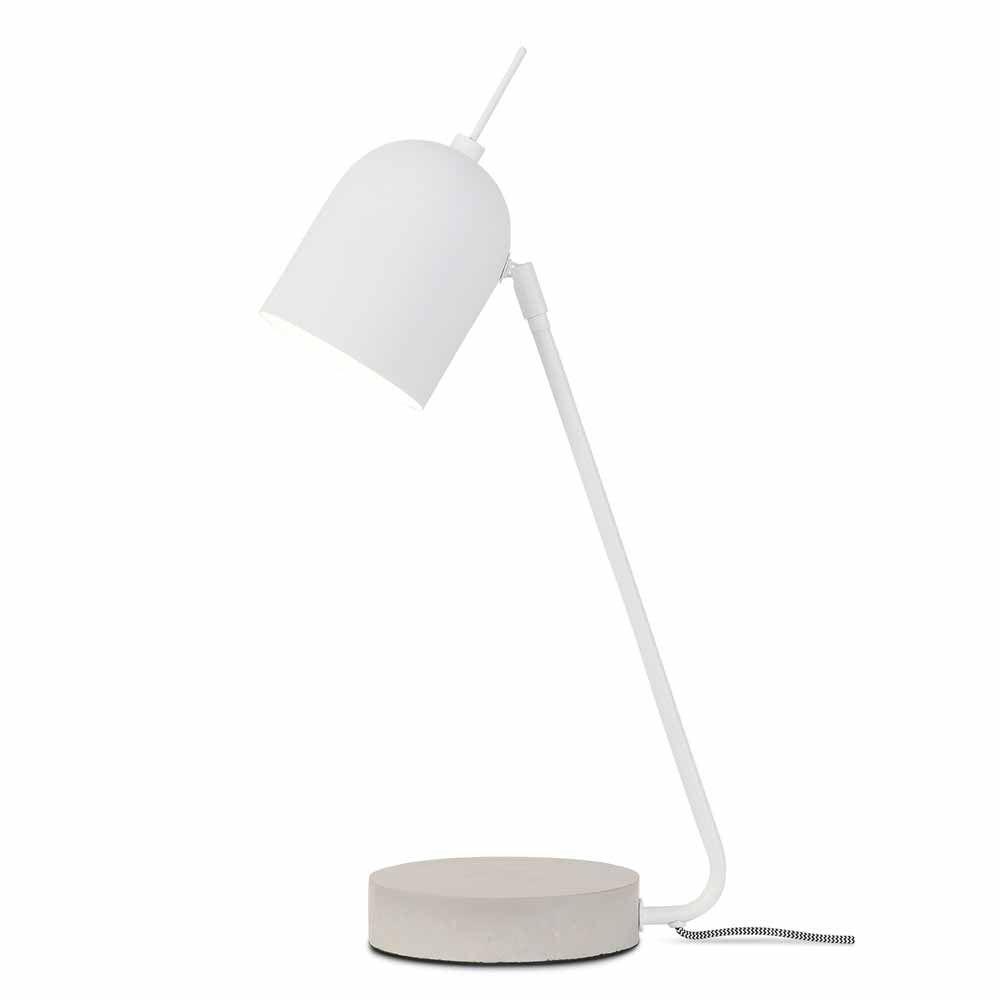 Moderne Lampe Mit Betonfuss Fur Den Tisch Milanari Com Tischleuchte Design Lampen Skandinavische Mobel