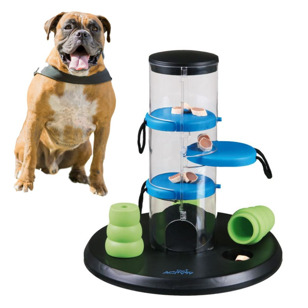 Details About Dog Treat Dispensing Activity Tower Interactive