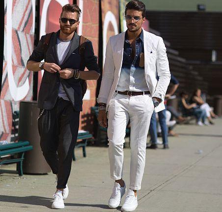 Moda Meska Na Men S Fashion Week Wiosna Lato 2016 Florencja Fashyou Pl Mens Fashion Essentials Sneakers Men Fashion Mens White Trousers