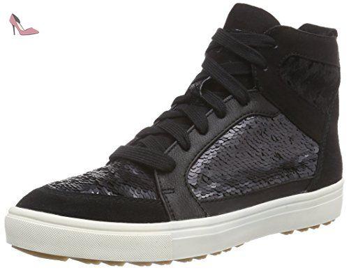 25295, Sneakers Hautes Femme, Noir (Black 001), 37 EUTamaris