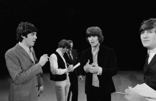 yesterdwy:  The Beatles rehearse for The Ed Sullivan Show 1965
