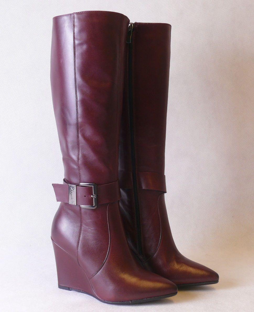 Nowosc Modne Kozaki Eksbut 3776 Bordo Skora Teseo 5713888679 Oficjalne Archiwum Allegro Boots Shoes Riding Boots