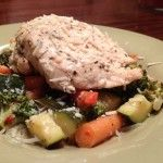 Parmesan Chicken and Vegetables