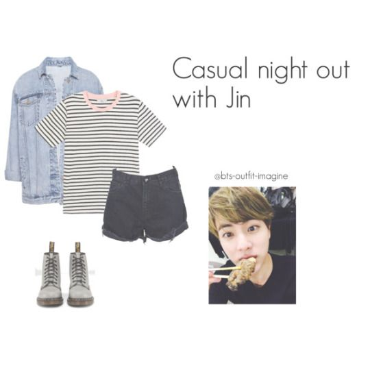 Casual night out with Bangtan boys - BTS outfit imagines | kpop airport fashion | Pinterest ...