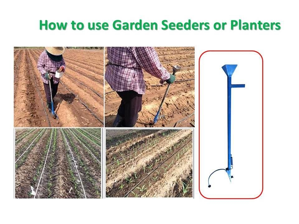 Thai Seeder Planter Fertilizer Long handled Tools Strong Steel Weight 2 Pounds