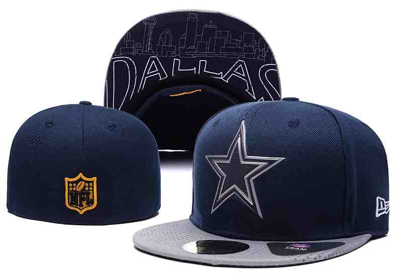 NFL Dallas Cowboys Fitted D.Blue Hats--LX  76fbccccd