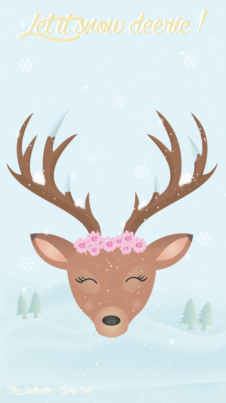 Snow Deer Wallpaper iPhone